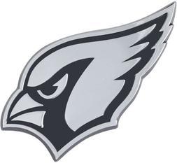 Arizona Cardinals Premium Solid Metal Chrome Auto Emblem Rai