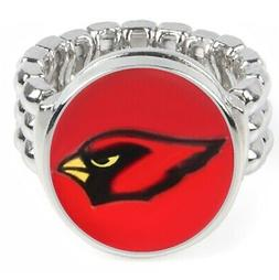 Arizona Cardinals Silver Mens Womens Ring Fits All Sizes w G