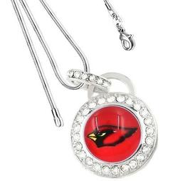 Arizona Cardinals Sterling Silver Womens Link Chain Necklace