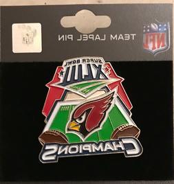 Arizona Cardinals Super Bowl 43 Champs ERROR Pin RARE