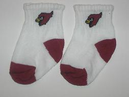 Arizona Cardinals Team Logo Cotton Baby Booties -