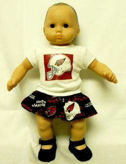 Arizona Cardinals Theme Outfit For 16 Inch Doll
