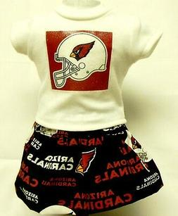 Arizona Cardinals Theme Outfit For 18 Inch Doll