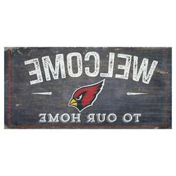 """Arizona Cardinals Welcome to Our Home 12"""" x 6"""" Wood Sign  NF"""