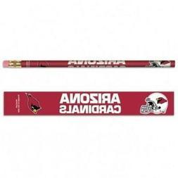 Arizona Cardinals Wooden Pencil 6 Pack  NFL School Write Pen