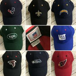 NFL Ball Cap Hat Football New Velcro Back Chargers Falcons J