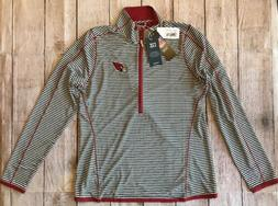 Brand New Arizona Cardinals Half Zip Jacket Women's Size Med