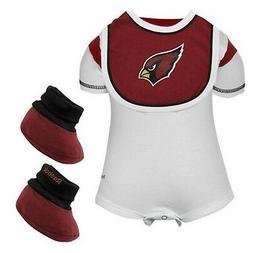 BRAND NEW Baby NFL Arizona CARDINALS Creeper  Bib Booties SE