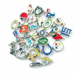 Buy 3, Get 2 ! NFL PRO FOOTBALL TEAM Floating Charms for Flo