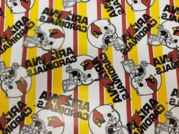 *CASE OF 18* NFL Licensed Arizona Cardinals Paper Gift Wrap