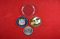 Football Coin: Arizona CARDINALS w/ Hard Case Poker Card Pro