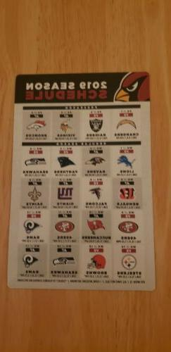 2019 Arizona Cardinals Magnet schedule New