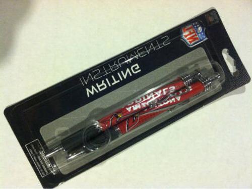 arizona cardinals 2 pack jazz pens