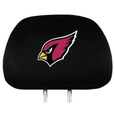 arizona cardinals auto headrest covers 2 pack