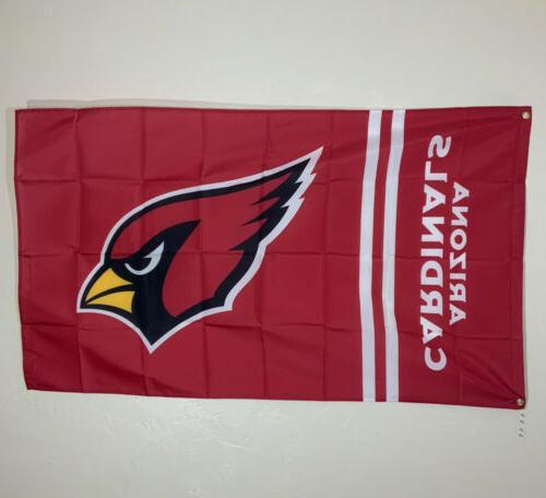 Arizona Cardinals Banner Ft Flag Cave Decor NFL Sports