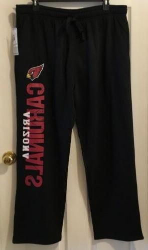 arizona cardinals black logo xl sweatpants sleepwear