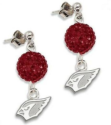 arizona cardinals bling earrings jewelry crystal jewelry