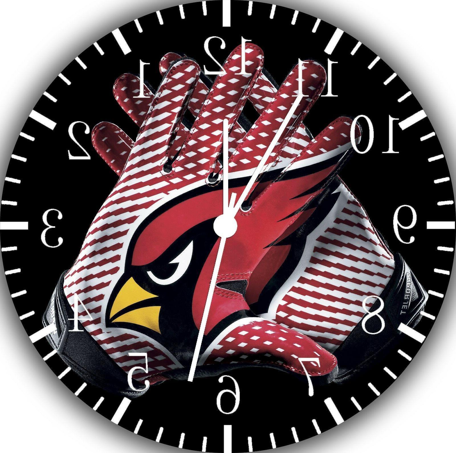 arizona cardinals borderless wall clock nice