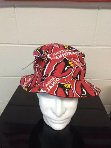 arizona cardinals bucket hat adult size one