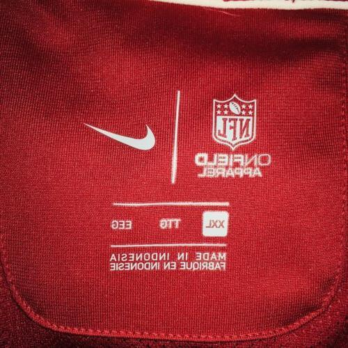 Nike Arizona Dri-Fit 1/2 Red Pullover, Mens 2XL