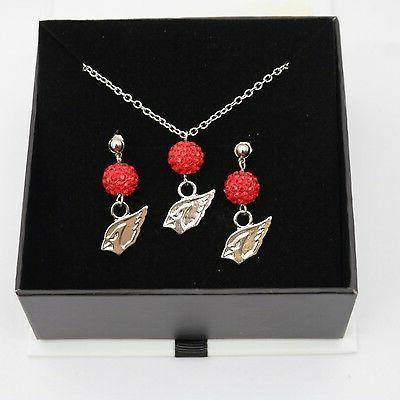 arizona cardinals jewelry shamballa bead crystal necklace