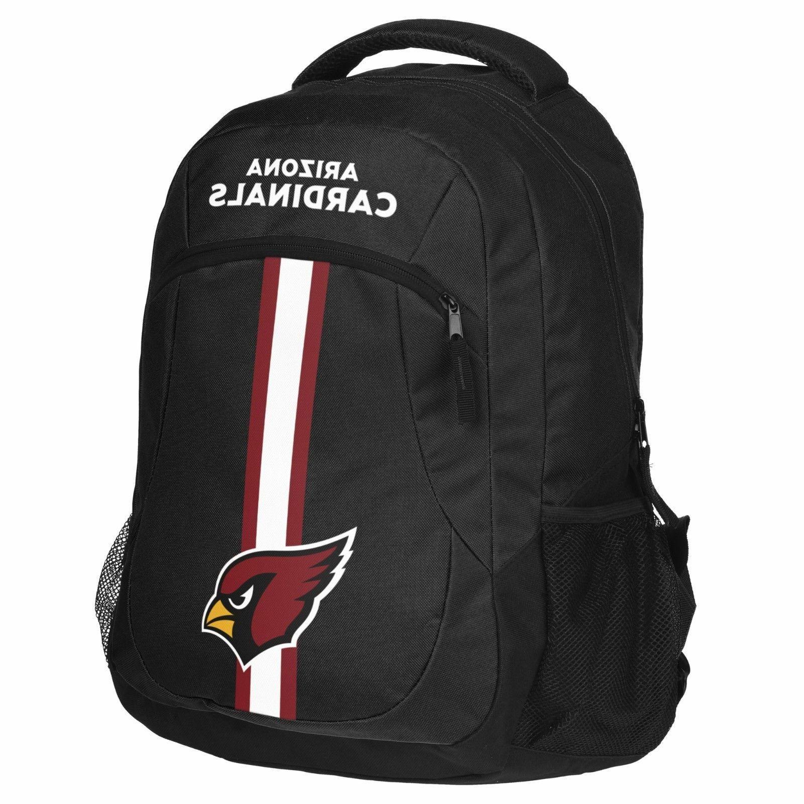 arizona cardinals logo action backpack school bag