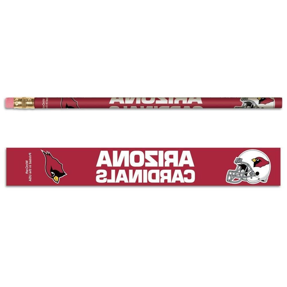 arizona cardinals nfl pencils 6pk free ship