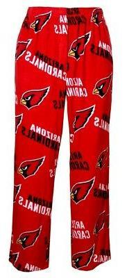 """Arizona Cardinals NFL """"Playoff"""" Men's Micro Fleece Pajama Pa"""