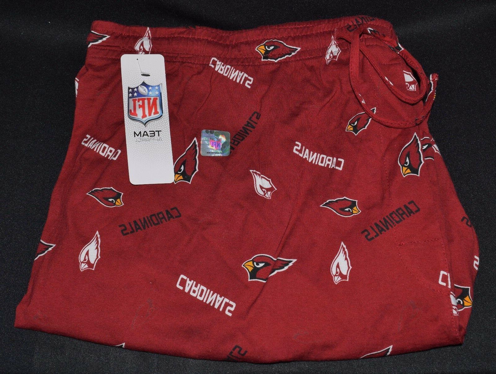 arizona cardinals nfl sleepwear pants w logo