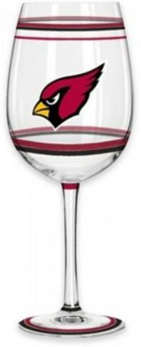 Arizona Cardinals NFL Wine Glass Brush Painted Gameday Party