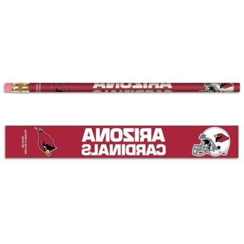 arizona cardinals pencil 6 pack