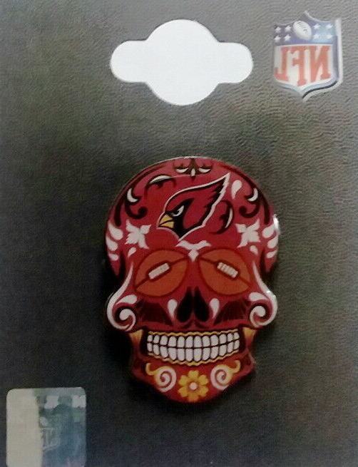 arizona cardinals pins 2020 sugar skull nfl