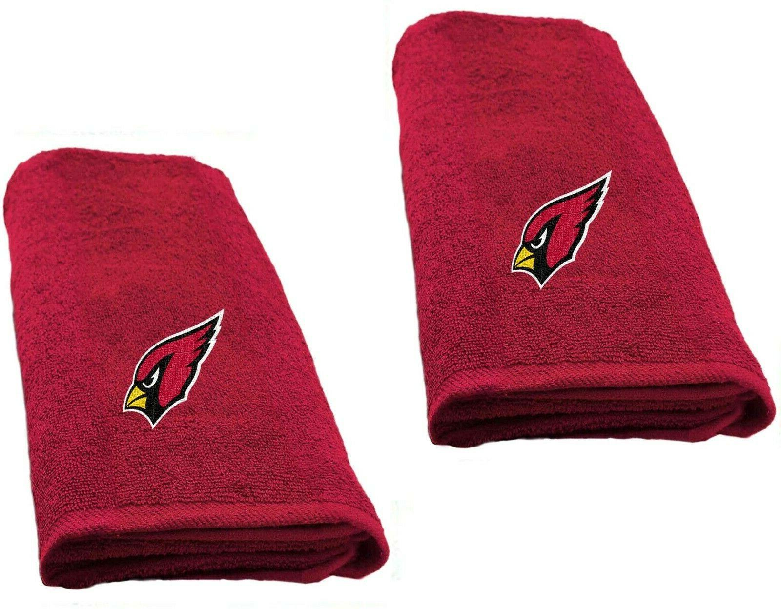 "Arizona Cardinals set of 2 Decorative 26"" x 15"" Hand Towels"