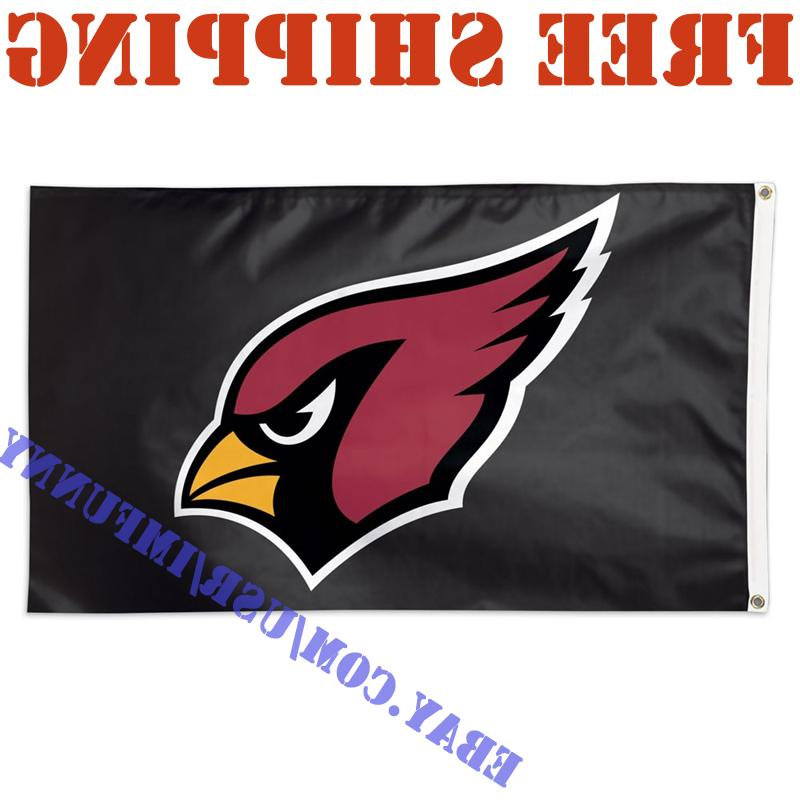 Deluxe Arizona Cardinals Logo Banner Flag BLACK 3x5 ft NFL 2