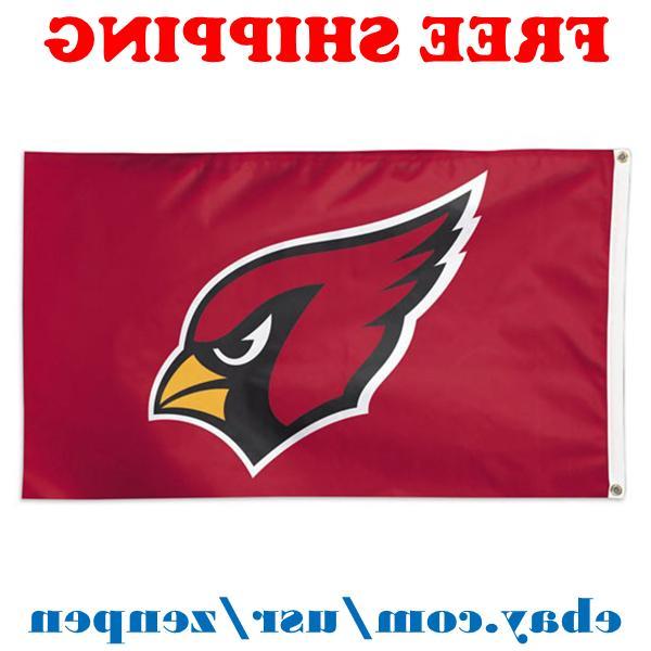 deluxe arizona cardinals team logo flag banner