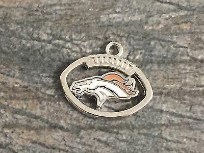 Denver Broncos Charm for Bracelets, Necklaces, Crafts, Footb