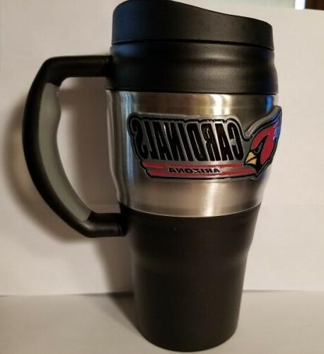 nfl arizona cardinals heavy duty travel mug