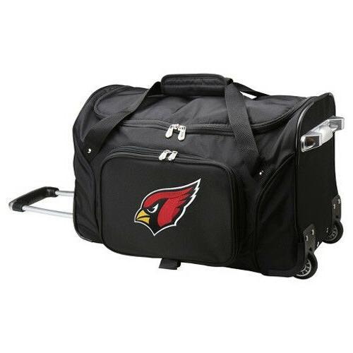 nfl arizona cardinals mojo 22 rolling duffel