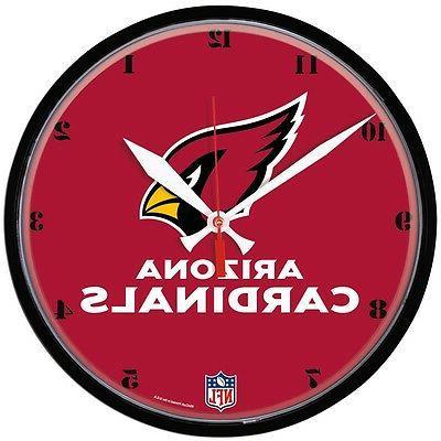 nfl arizona cardinals new round wall clock