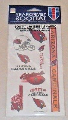 nfl arizona cardinals temporary tattoos 1 sheet