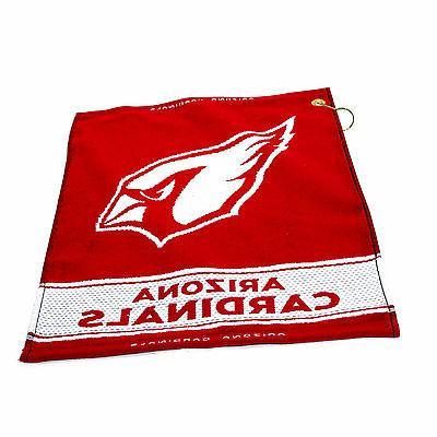 nfl arizona cardinals woven golf towel 16