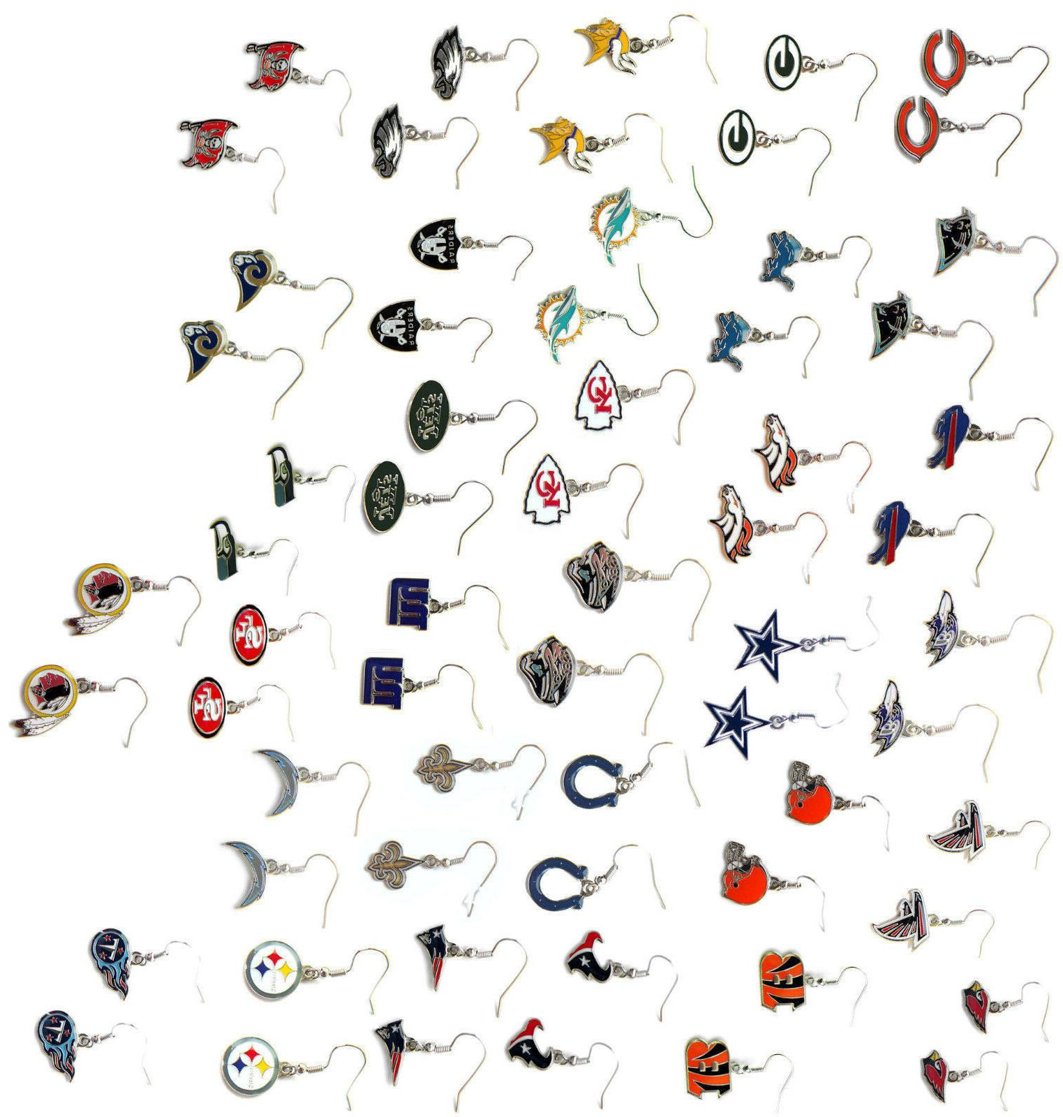 NFL dangle earrings your team
