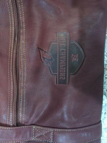 NFL Champions Cardinals Outback Leather Duffel 22