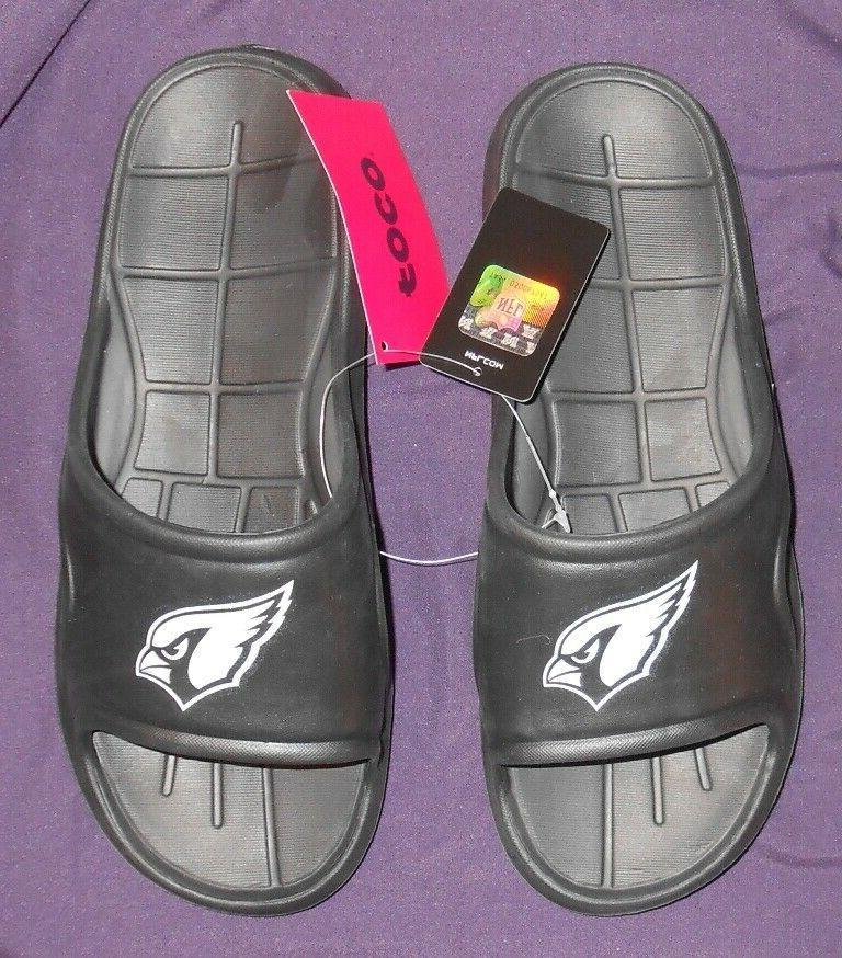nwt arizona cardinals men s sandals size