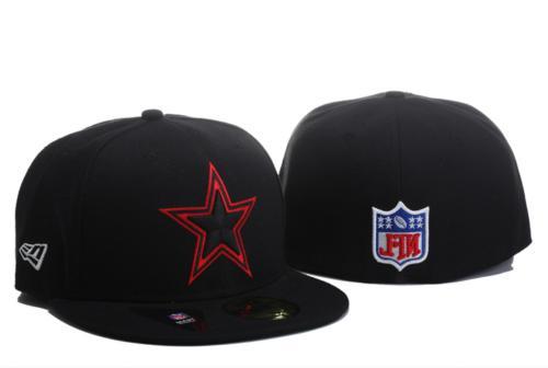 NWT New Era NFL Black/Red Basic Team Logo Fitted