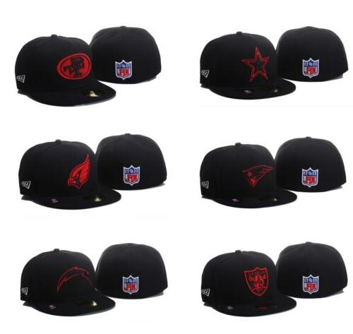nwt new era nfl black red basic