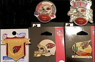 set of 5 arizona cardinals logo collector