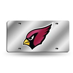 Laser-Engraved Silver License Plate - Arizona Cardinals