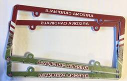 Lot of 2 Arizona Cardinals Car Truck License Plate Frames NE