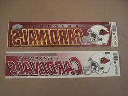 Lot Of  Different Vintage Arizona Cardinals Wincraft Bumper